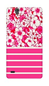 SWAG my CASE PRINTED BACK COVER FOR SONY XPERIA C4 Multicolor