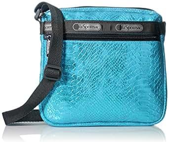 LeSportsac Shellie Cross-Body Handbag, Aqua Snake, One Size