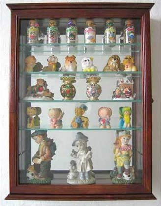Wall Curio Cabinet / Wall Shadow Box Display Case for Figurines, CD06-WA (Wall Mounted Glass Cabinet compare prices)
