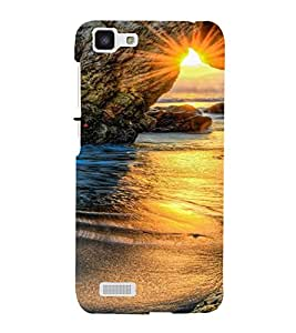 PrintVisa Travel Beach Sunset Design 3D Hard Polycarbonate Designer Back Case Cover for Vivo Y27L