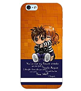 PrintDhaba FRIENDS FOREVER D-6397 Back Case Cover for APPLE IPHONE 6 (Multi-Coloured)
