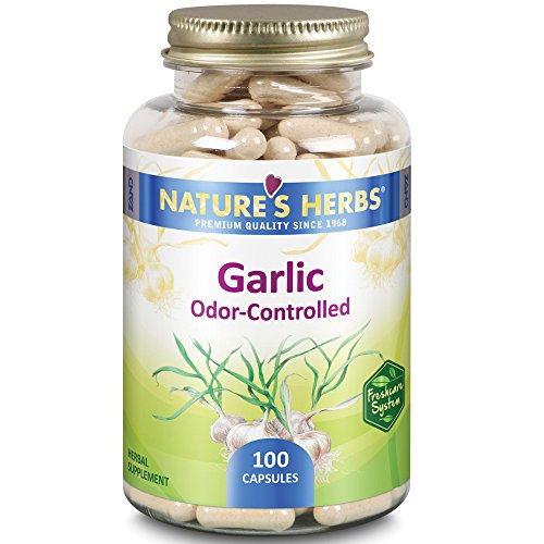 Nature's Herbs Garlic Odor Controlled -- 100 Capsules