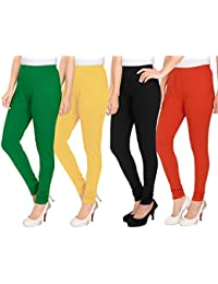 NGT Womens Green, Beige, Black And Red Color Woollen Legging In Heavy Quality.