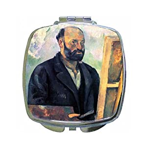 Self-Portrait With Pallette Compact Mirror By Paul Cezanne
