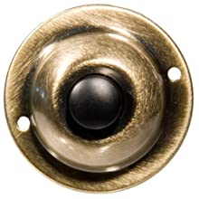 Morris Products 78235 Round Pushbuttons, Antique Brass, 1-3/4""