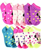 Minnie Mouse Hearts Afloat 6-Pack Low Cut Socks - fuchsia, one size