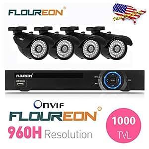 FLOUREON 8CH 960H HDMI CCTV DVR +