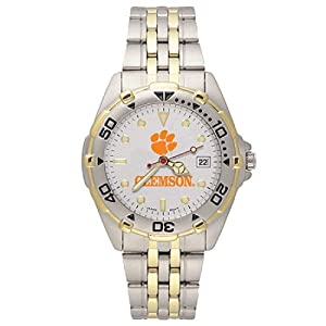 NSNSW22202Q-Stainless Steel Clemson University Tigers Watch by NCAA Officially Licensed