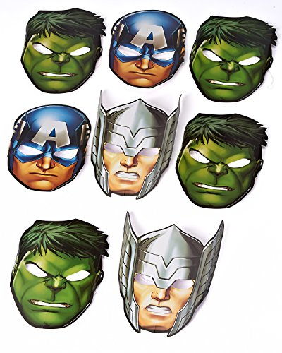 Marvel Avengers Hats/ Masks, 8 Count, Party Supplies