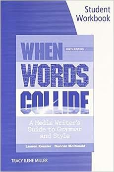 Student Workbook For Kessler/McDonald's When Words Collide, 9th