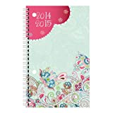 Brownline Daily Academic Planner, August 2014 - July 2015, 8 x 5 inches, Poly Cover, Assorted Paisley Designs, Design May Vary, 1 Planner (CA201PT.ASX-15)