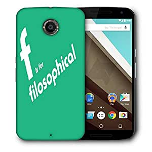 Snoogg Filosophical 2899 Designer Protective Back Case Cover For Motorola Nexus 6