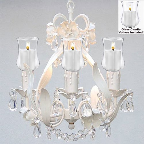 Crystal Chandelier Lighting W Candle Votives H15 W11