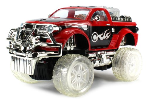 Hydro Jammerz Ram Electric Rc Truck Mp3 Player Huge Size 1:12 Scale Rtr Controllable Suspension, Can Be Raised/Lowered Through Remote (Colors May Vary)