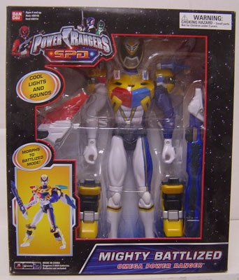 Buy Low Price Bandai Power Rangers 12 Inch Action Figure White Mega Battlized Talking Omega Power Ranger (B0010L1GOC)
