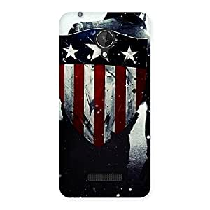 HWC Vintage Star Back Case Cover for Micromax Canvas Spark Q380