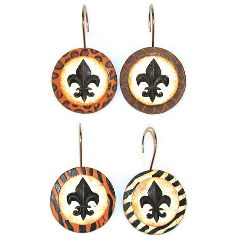 Animal Print Cheetah Tiger Zebra Leopard Fleur-De-Lis Shower ...