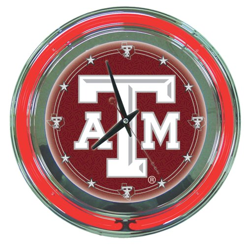 NCAA Texas A&M 14-Inch Diameter Neon Clock at Amazon.com