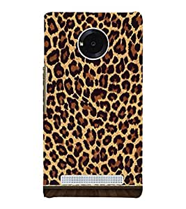 Cheetah Skin Pattern 3D Hard Polycarbonate Designer Back Case Cover for YU Yunique