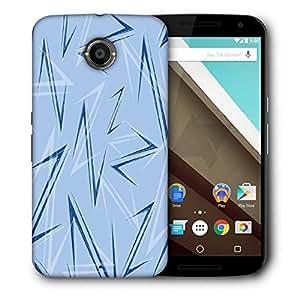 Snoogg Blue Z Designer Protective Phone Back Case Cover For Motorola Nexus 6