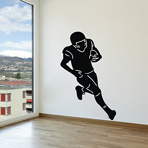Olivia American Football Player Wall Stickers Graphic Vinyl Removable Rugby Football Wall Decals Sport Wall Art For Diy Boys Girls Bedroom Playroom Nursery Living Room Home Wall Sticker Decal Decor front-20305