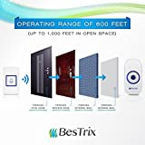 1 Day sale! Bestrix Smart Wireless Doorbell with Receiver Operating at over 1,000-feet Range with 36 Chimes, Battery Included