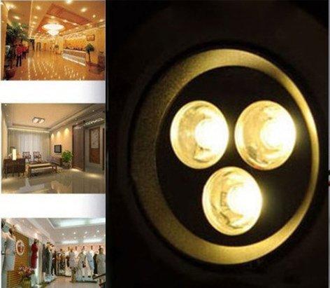 Siga® 3W Warm White Power Led Recessed Ceiling Down Bulb Spot Light Lamp 110V-220V,3000K-3200K