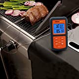 ThermoPro TP06S Upgraded Version Digital Single Probe Kitchen Cooking Meat Thermometer with Timer / Temperature Alarm for Oven BBQ Smoker Grill