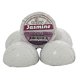 JASMINE 5 PACK SHOWER BOMBS ★ NATURAL Shower Aroma Fizzy ★ Handcrafted in the USA