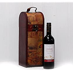 750ml Versare Red Wine in Vintage Style Wooden Wine Chest