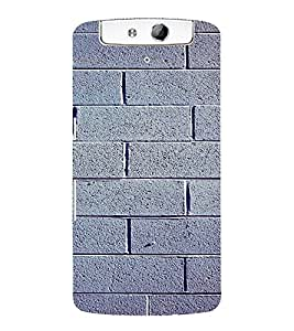 PrintVisa Stone Wall Design 3D Hard Polycarbonate Designer Back Case Cover for Oppo N1
