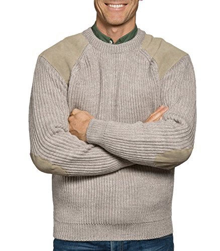 Wool Overs Mens Countryman Sweater Oatmeal Small (Wool Overs British Wool compare prices)