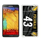 Samsung Note 3 Case,Custom Note 3 Protective Skin Pittsburgh Steelers 7 White Phone Case For Samsung Galaxy Note 3 N900A N900V N900P N900T