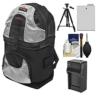 Precision Design PD-BP2 Sling Digital SLR Camera Backpack Case with LP-E8 Battery & Charger + Tripod for Canon Rebel T3i, T4i, T5i