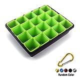 Plant Seedling Starter Trays + Square Pot Seed Starter Pot +Carabiner (Green)