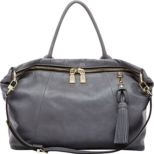 Trina Turk Saratoga Large Satchel Top Handle Bag, Ash, One Size