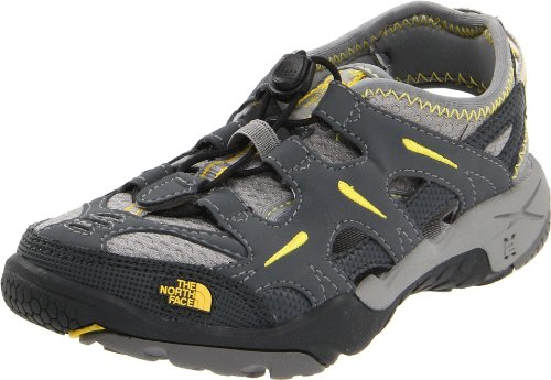 The North Face Hedgefrog Sandal - Boys' Dark Shadow Grey/Lightning Yellow, 2.0