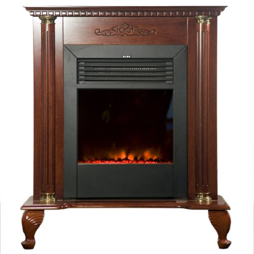 Yosemite Home Decor DF-EFP79 Classic Electric Fireplace, Brown picture B005C3I7D2.jpg
