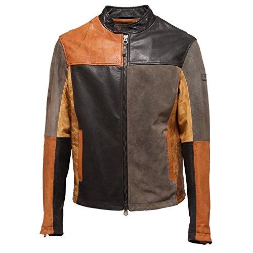 2572O giubbotto ARMANI JEANS nero/cuoio giubbotti uomo jackets men [50]