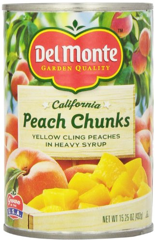 Del Monte Peach Chunks Yellow Peaches In Heavy Syrup, 15.25-Ounce (Pack Of 6) front-61744