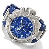 Invicta Mens Subaqua Noma IV Swiss Made Chronograph Tachymeter Blue Polyurethane Watch 1389