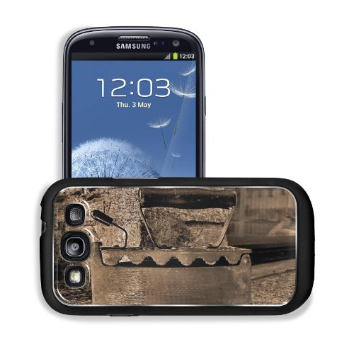 Old Retro Iron Antique Sepia Samsung I9300 Galaxy S3 Snap Cover Premium Aluminium Design Back Plate Case Customized Made To Order Support Ready 5 3/8 Inch (136Mm) X 2 7/8 Inch (73Mm) X 7/16 Inch (11Mm) Msd Galaxy_S3 Professional Metal Cases Touch Accessor front-574087