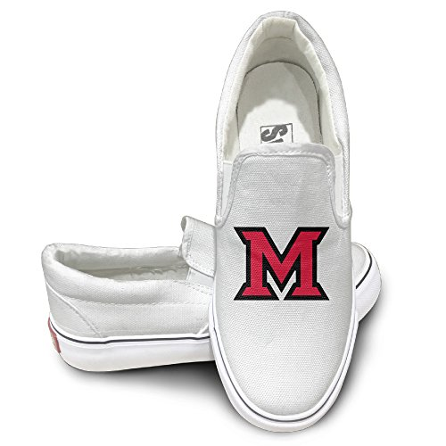 WG Custom Fashion Sneakers Shoes Miami University U Miami Of Ohio RedHawks Baseball White