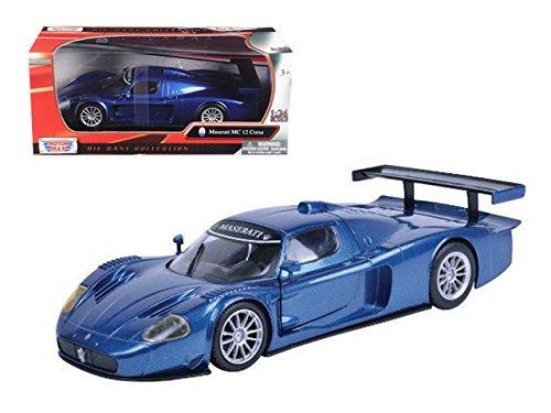 Motormax Maserati MC 12 Corsa Hard Top 1/24 Scale Diecast Model Car Blue (Maserati Model compare prices)