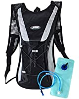Hydration Pack Water Rucksack Backpack Bladder Bag Cycling Bicycle Bike/Hiking Climbing Pouch + 2L Hydration Bladder (Black)