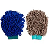 #6: Autofy Multi-Purpose Microfibre Cleaning Gloves for All Cars and Bikes (Multicolour, Set of 2)