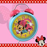 DISNEY MINNIE MOUSE RETRO JUMBO LARGE PINK ALARM CLOCK