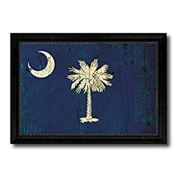 South Carolina State Vintage Flag Collection Western Interior Design Souvenir Gift Ideas Wall Art Home Decor Office Decoration - 23''x33''