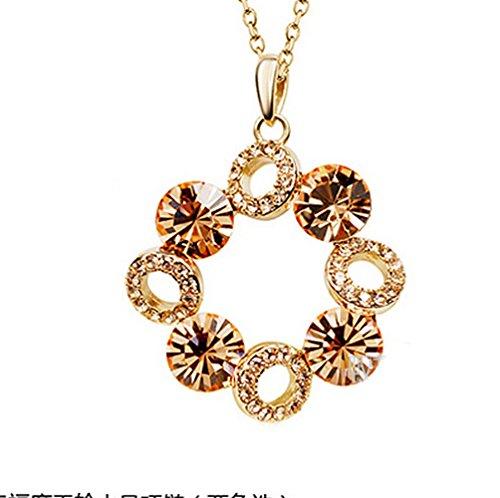[Pop Wild Women Lucky Ball Diamond Crystal Short Pendant Necklaces] (Pepsi Costume Halloween)