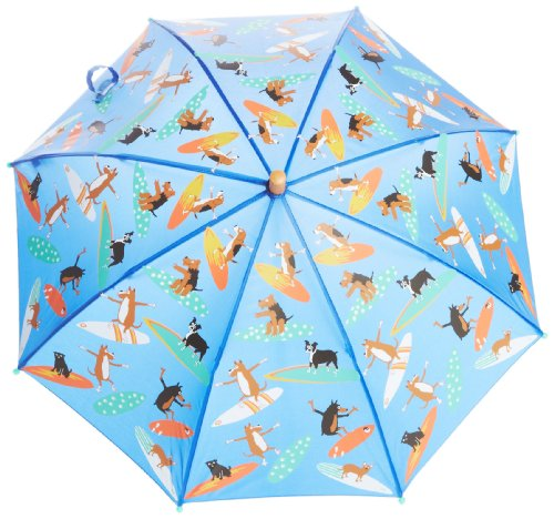 Hatley Little Boys' Umbrella - Surfing Dogs, Blue, One Size front-843246